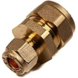 10mm x 8mm Compression Reducer Coupling Brass Plumbing Pipe Fitting Thunderfix