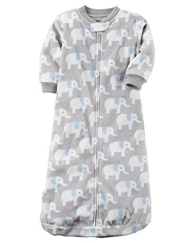 Carters Unisex Baby Fleece Sleepbag Sleepsuit, Elephant, Small 0-3 Months ()
