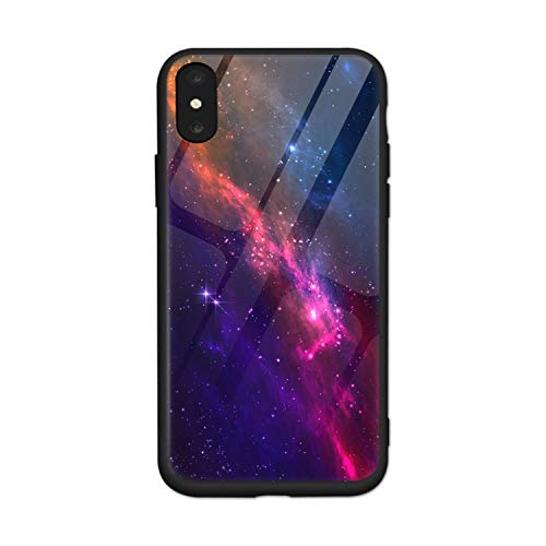 Tempered Glass Phone Case for iPhone Xs Max Star Space Cover Case for iPhone 8 7 6 6S Plus X Luxury Case Silicone Coque,7,for iPhone 6 6S