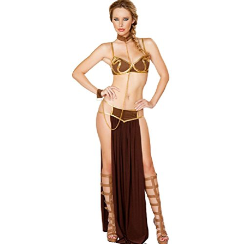 [Purplebox Fashion Luxury Sexy Slave Girl Costumes Uniforms Costume Pieces Sets] (Cute Pirate Costumes For Girls)