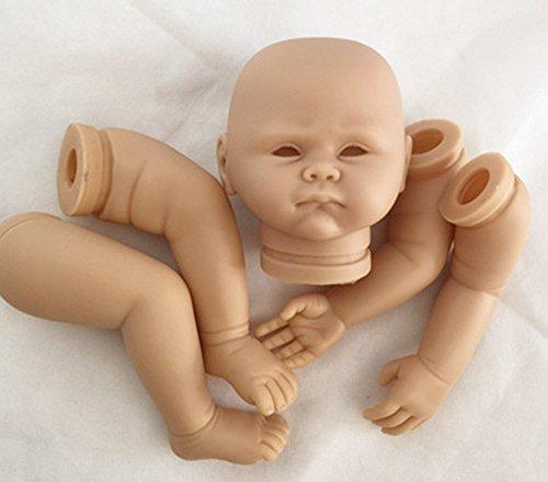 Pursue Baby Soft Silicone Vinyl Unpainted Reborn Doll Kits for Beginner, 20 Inch Lifelike Reborn Newborn Baby Doll Kit Opened Eyes