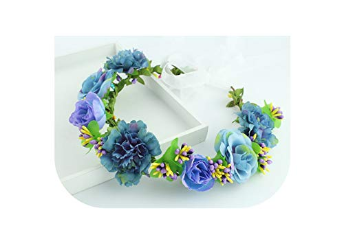 11 colors Handmade Fabric Camellia Flower Crown Bridal Hair Accessories Prom Flower Garland for Kids health flower wreath,as picture