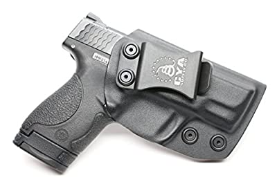 CYA Supply Co. IWB Holster Fits: Smith & Wesson M&P Shield 9MM/.40 S&W - Veteran Owned Company - Made in USA - Inside Waistband Concealed Carry Holster