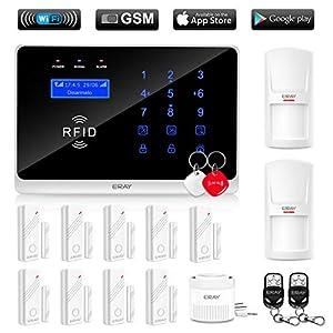 ERAY WM3FX WiFi + GSM / 3G Sistema di Allarme Domestico Wireless, Antifurto Kit con Pannello di Controllo, APP Gratuita… 1 spesavip