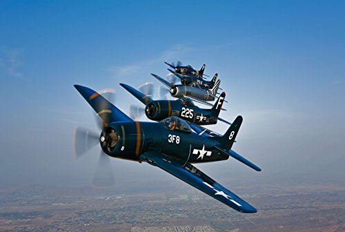 Posterazzi Five Grumman F8F Bearcats in formation probably for sale  Delivered anywhere in USA