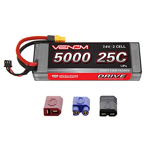 - Venom LiPo Battery for Traxxas Stampede 4x4 VXL 25C 7.4 5000mAh 2S with Universal Plug