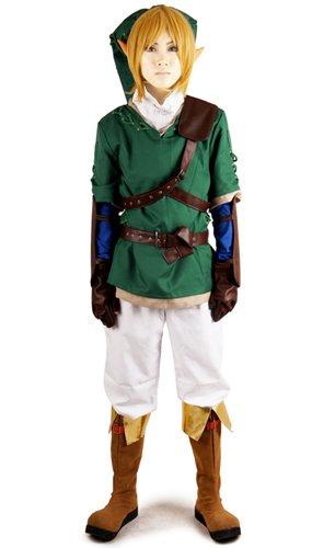 Miccostumes Men's the Legend of Zelda Link Cosplay Costume Green