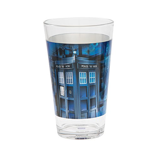Vandor Doctor Who 16-Ounce Laser Decal Glasses, 2-Piece