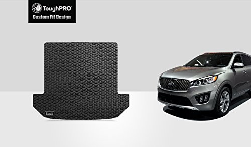 TOUGHPRO Cargo/Trunk Mat Accessories Compatible with Kia Sorento (7 Seater) - All Weather - Heavy Duty - (Made in USA) - Black Rubber - 2016, 2017, 2018, 2019, 2020