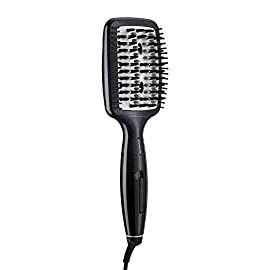 INFINITIPRO BY CONAIR Diamond-Infused Ceramic Smoothing Hot Brush/Straightening Brush; Black - 41YoZ787ypL - INFINITIPRO BY CONAIR Diamond-Infused Ceramic Smoothing Hot Brush/Straightening Brush; Black