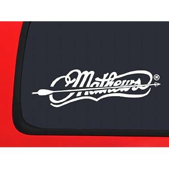 Amazon Com Mathews Archery Logo With Whitetail White