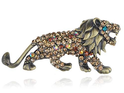 Fashion Gold Tone Rhinestone Crystal Wedding Bridal Flower Brooch Pin 50 Kinds (Style - Style - Tone Gold Brooch Initial Pin