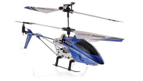 Syma 3 Channel S105 Mini Indoor Co-Axial Metal Frame Helicopter (Red)