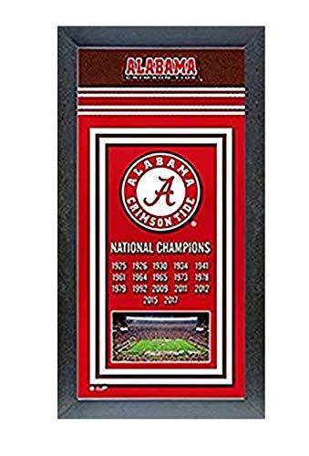 Photo File Alabama Crimson Tide 2017 National Champions Framed - Framed Banner