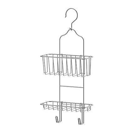 Amazon Com Ikea Immeln Shower Caddy Two Tiers Zinc Plated
