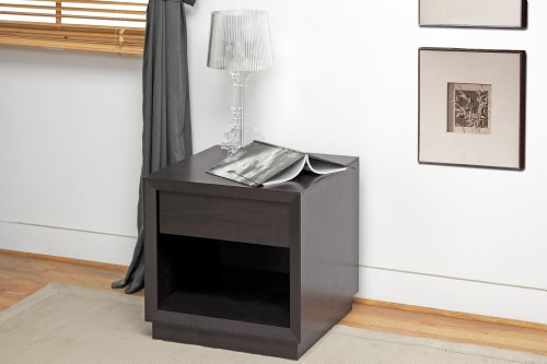 Bedroom Baxton Studio Girvin Modern Accent Table and Nightstand, Brown modern bedroom furniture