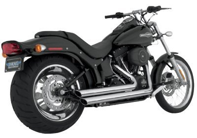 Vance and Hines Big Shots Staggered Chrome Full System Exhaust for Honda 2002-0 - One - Power Hines Big Shots Chamber