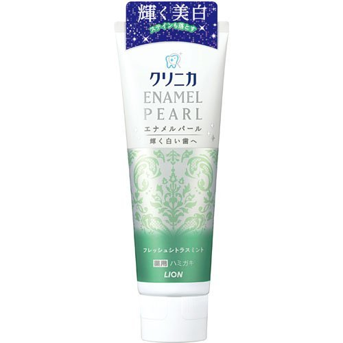 Tooth Care Toothpaste Lion Clinica Enamel Pearl 130g - Fresh Citrus Mint (Harakjuku Culture Pack)