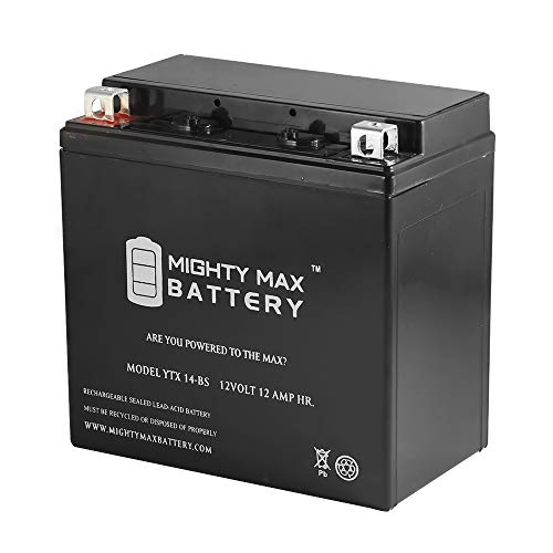 Mighty Max Battery YTX14-BS Replacement for 2001-2005 YAMAHA YFM660R Raptor 660CC 04 03 02 brand product