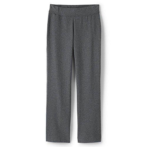 Lands' End Women's Petite Starfish Pants, XL, Charcoal Heather - Cotton Stretch Knit Pants