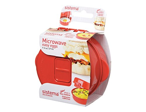 Sistema 1117 Easy Eggs Microwave Cookware, Red (Eggs In The Microwave compare prices)