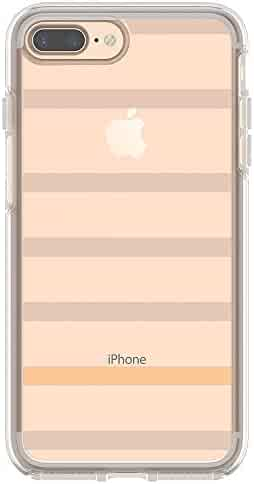 OtterBox SYMMETRY CLEAR SERIES Case for iPhone 8 Plus & iPhone 7 Plus (ONLY) - Retail Packaging - INSIDE THE LINES (CLEAR/INSIDE THE LINES)