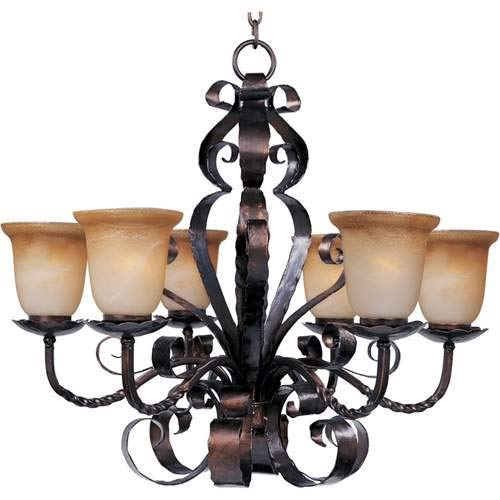 Maxim Lighting Aspen Oil Rubbed Bronze 6-Light Chandelier 20607VAOI