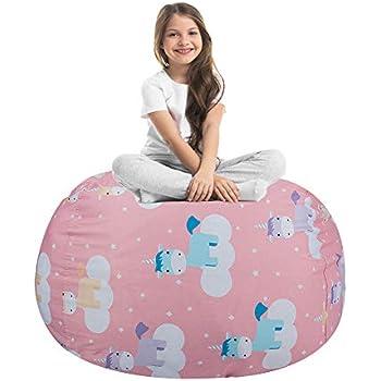 Admirable Amazon Com Unicorn Stuffed Animal Toy Storage Large Size Creativecarmelina Interior Chair Design Creativecarmelinacom