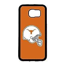 NCAA Team Logo Sports Theme Samsung Galaxy S6 Case Texas Longhorn Pattern Print Popular Pattern Cover For Guys