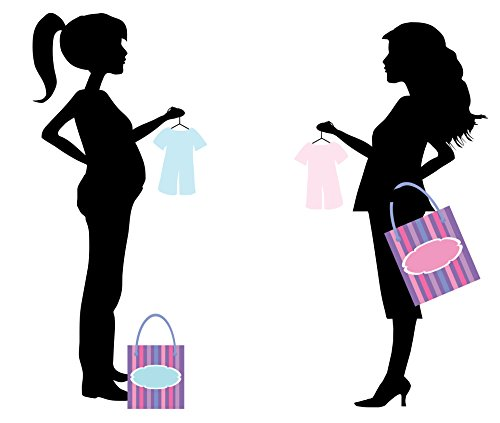 LAMINATED POSTER Pregnant Woman Shopping Illustrations Poster Print 24x - Shopping Woman Illustration
