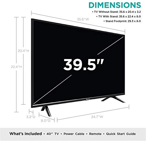 Hisense 40-Inch 40H5500F Class H55 Series Android Smart TV with Voice Remote (2020 Model) 41YocdRj9iL