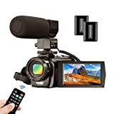 Video Camera Camcorder MELCAM 1080P 30FPS 24MP 3.0 Inch Screen Digital Camera with Microphone and...