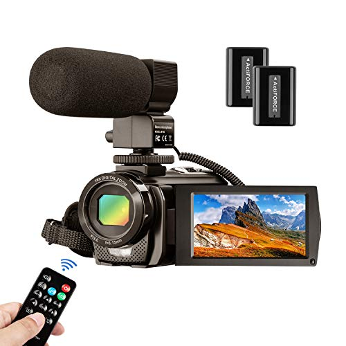 Video Camera Camcorder MELCAM 1080P 30FPS 24MP 3.0 Inch Screen Digital Camera with Microphone...