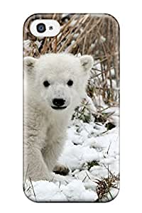 High-end Case Cover Protector For Iphone 4/4s(cute Baby Polar Bear Animals)