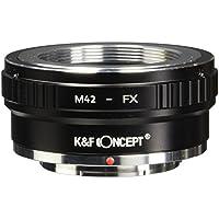 Lens Mount Adapter K&F Concept Copper Adapter Ring M42 42mm Screw to Fuji Fujifilm FX XPro1 X-Pro1 camera