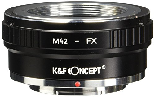 K&F Concept Copper Adapter Ring Compatible M42 42mm Screw to FX XPro1 X-Pro1 Camera Body