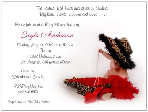 (Baby Leopard Baby Shower Invitations - Set of)