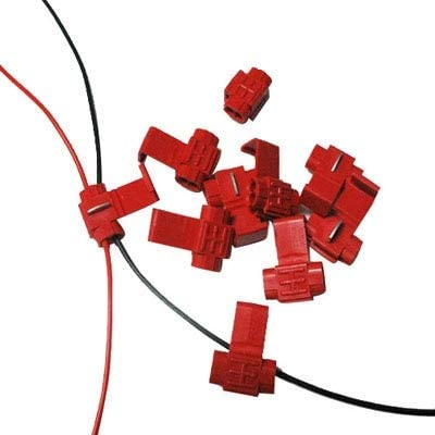 Red Durable Adapt to Line Diameter: 0.3-0.7mm 100 PCS Cable Clip
