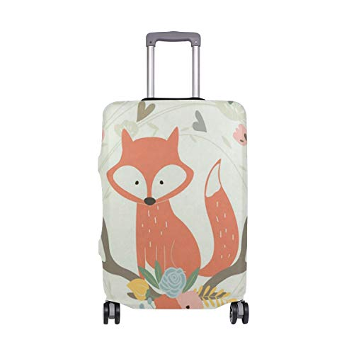 Suitcase Cover Suitcase Cute Fox And Flowers Luggage Cover Travel Case Bag Protector for Kid Girls Luggage Cover Travel Case Bag Protector for Kid Girls ()