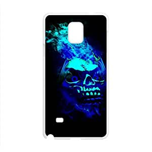 Happy Black Blue Skull Custom Protective Hard Phone Cae For Samsung Galaxy Note4