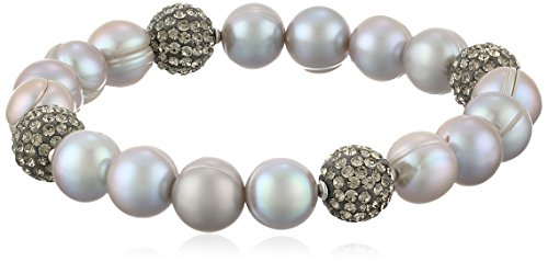 Honora-Pop-Star-Grey-Freshwater-Cultured-Pearl-and-Crystal-75-Stretch-Bracelet