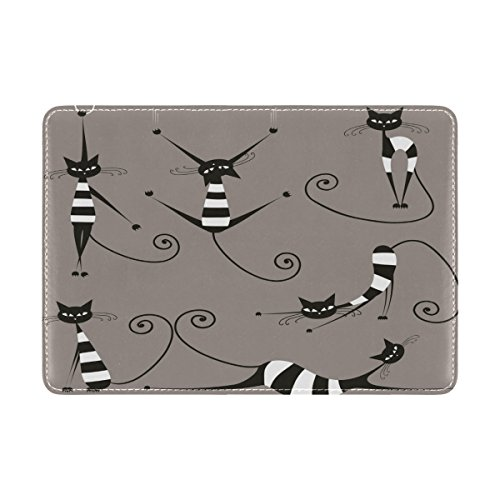 Fashion Cat Leather USA Passport Holder Cover Travel Wallet Case Protector by CHAYUN (Image #2)