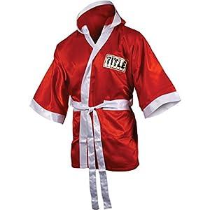 TITLE Boxing 3/4 Length Stock Satin Robe