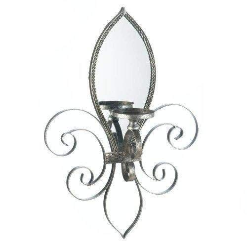 Fleur-De-Lis-Mirrored Wall Sconce (Fleur De Lis Sconces)