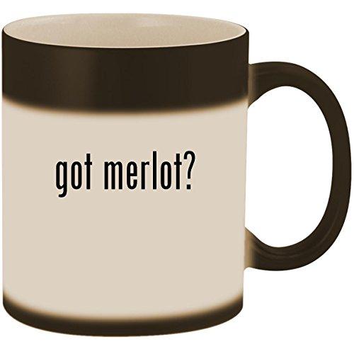 got merlot? - 11oz Ceramic Color Changing Heat Sensitive Coffee Mug Cup, Matte Black