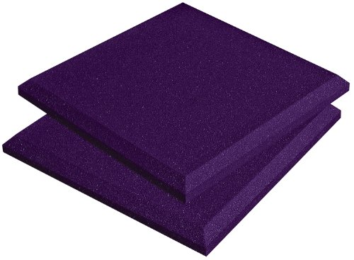 Auralex Acoustics SonoFlat Acoustic Absorption Foam, 2'' x 12'' x 12'', 14-Panels, Purple by Auralex Acoustics