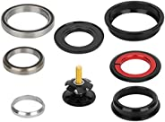 Aluminium Alloy Tapered Fork Straight Tube 44/55mm Bike Bearing Headset ycle Cycling Accessory Bike Threaded H