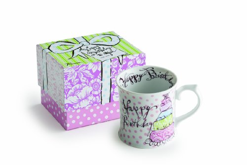 Rosanna Happy Birthday Mug (Halloween Topsy Turvy Cake)