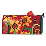 Magnet Works Peace Wild Sunflower with Bumble Bee Magnetic Mailbox Wrap Cover
