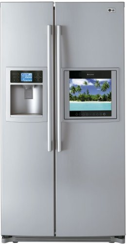 LG LSC27991TT 26.2 Cu. Ft. Side-by-Side Refrigerator with HD Ready LCD TV and WeatherPlus Information Center